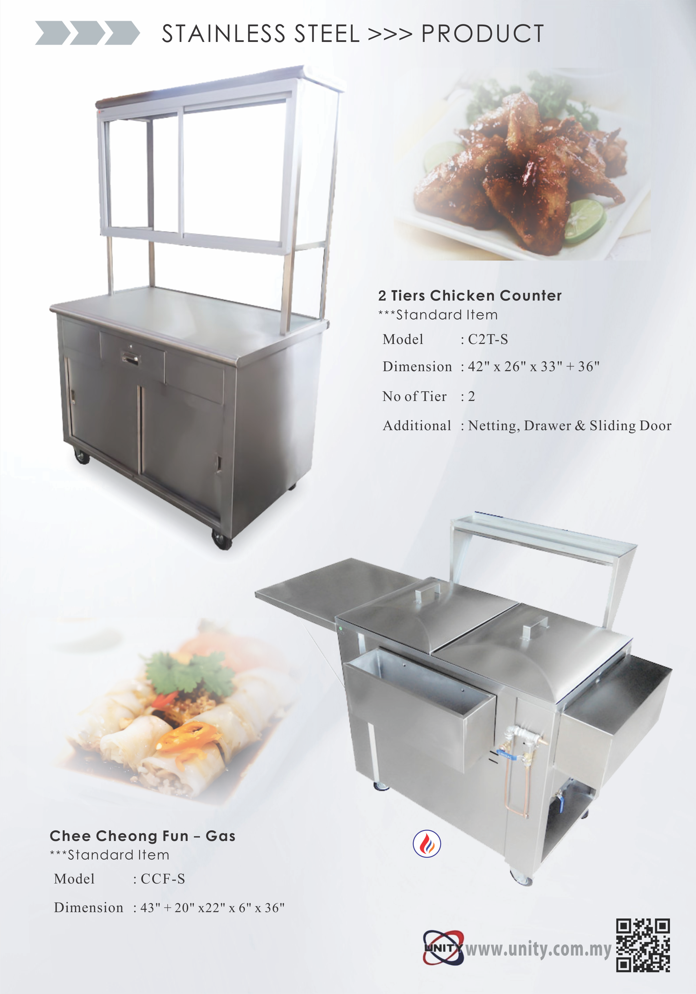 3 Tier Chicken Counter & Chee Cheong Fun Counter