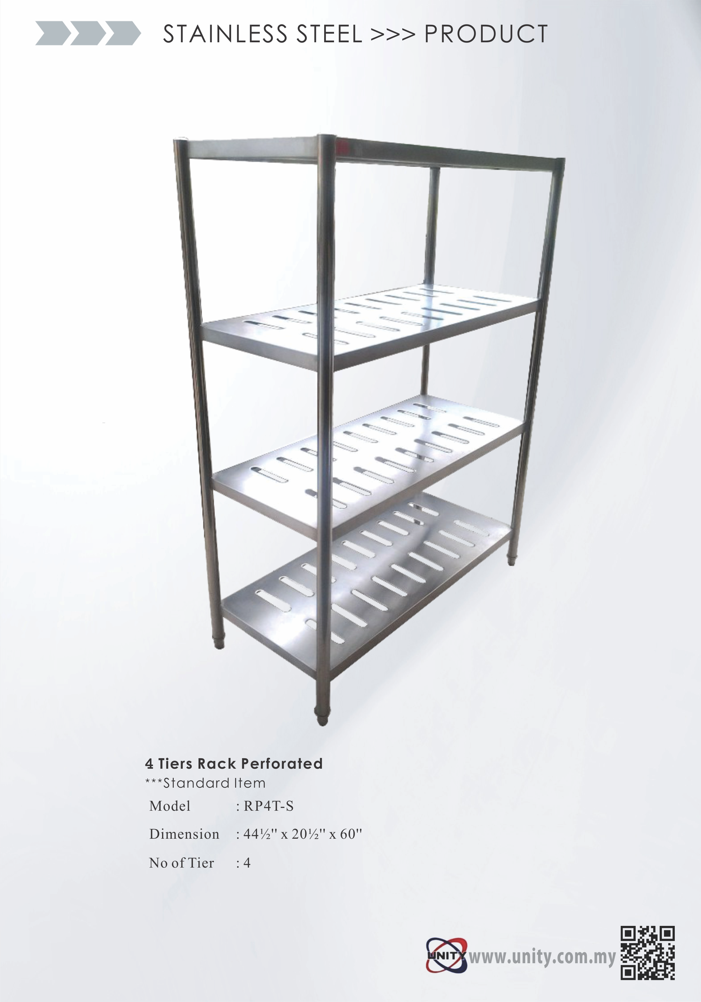 4 Tier Perforated Rack