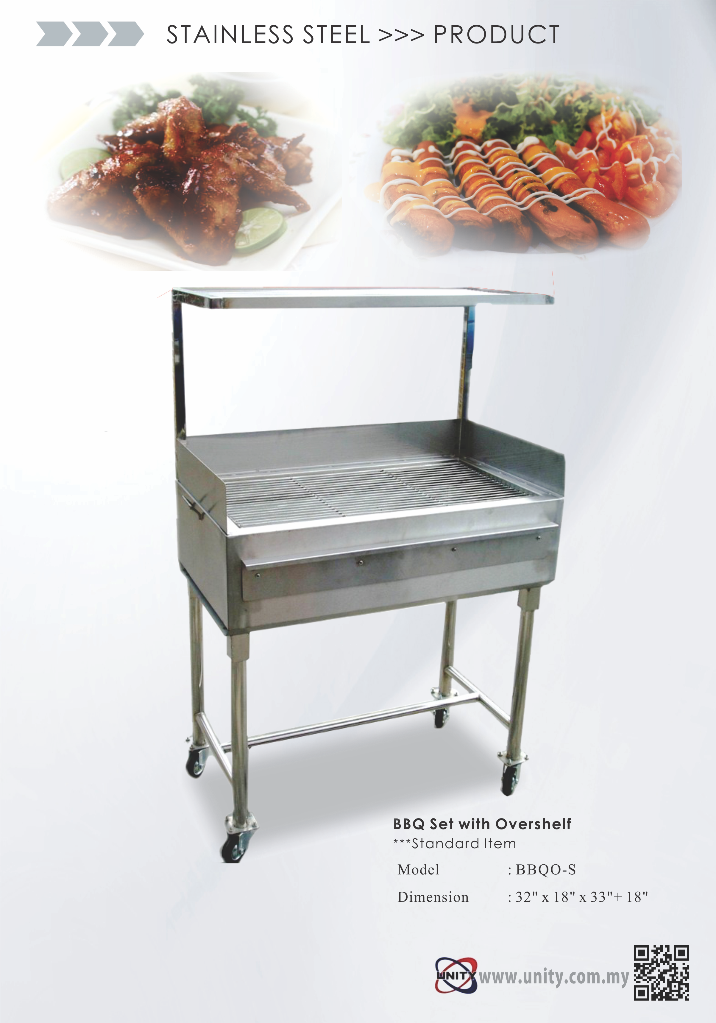 BBQ Set with overshelf