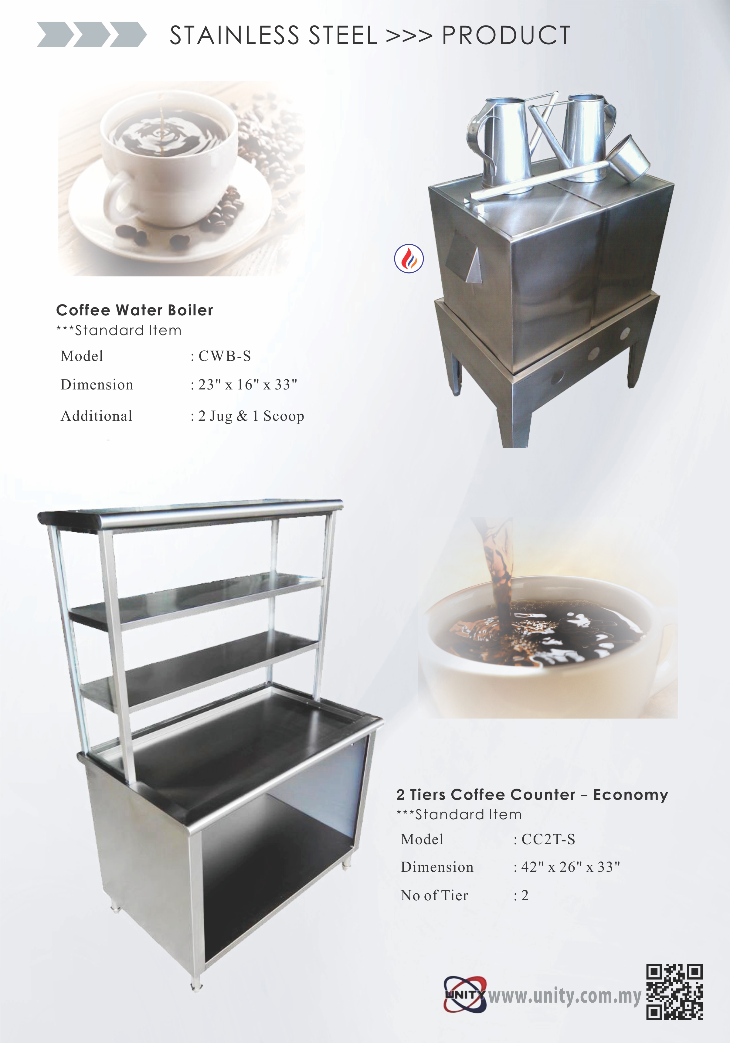 Coffee Water Boiler & Coffee Counter (Eco)