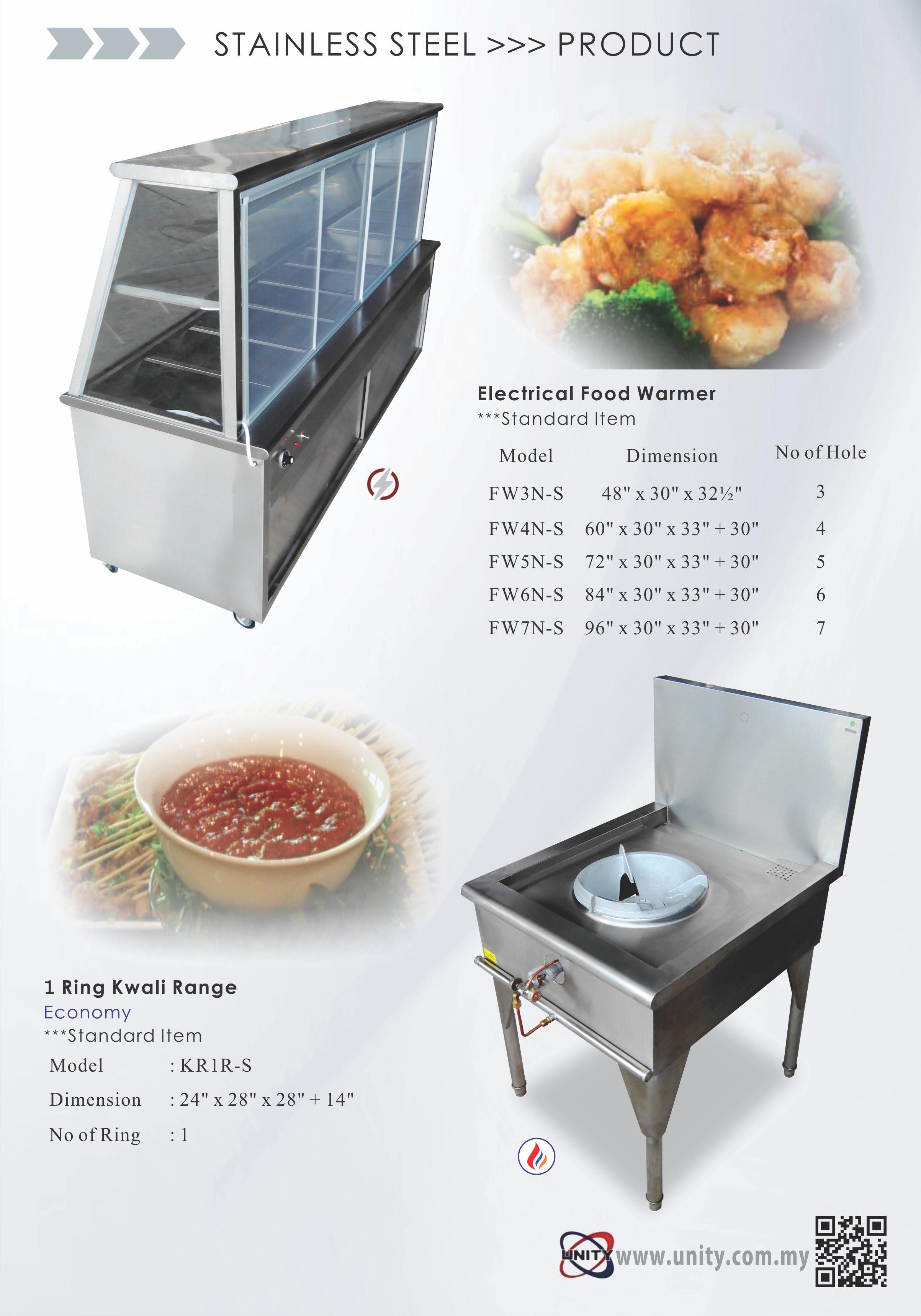 Food Warmer & 1 Ring Kwali Range
